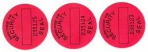Numurēta drošības uzlīme 12 x 70 mm