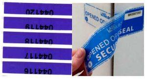 Numurētas drošības uzlīmes