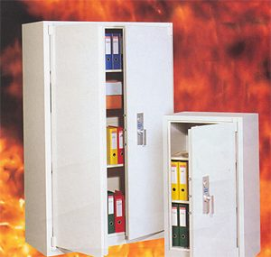 Fire resistant document safes and cupboards